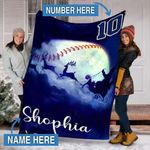 Custom Blankets Baseball Personalized Blanket - Fleece Blanket #48129
