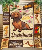 Custom Blanket Mama Dachshund Blanket - Quilt Blanket