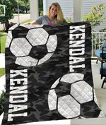 Custom Blankets Soccer Personalized Name And Number Blanket - Quilt Blanket