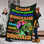 Personalized Dinosaur Gifts - Dinosaur Custom Name Blankets - Fleece Blanket