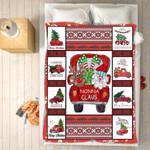 Custom Blankets - Nonna Claus Christmas Blanket - Fleece Blankets