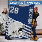 Custom Blankets Football Personalized Blanket 5 - Fleece Blanket