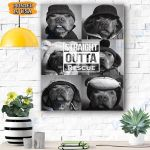 Dog Canvas Prints Wall Art - Outta Traigh Rescue - Matte Canvas