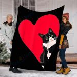 Customs Blanket Tuxedo Cat Valentines Day Gifts Blanket - Fleece Blanket