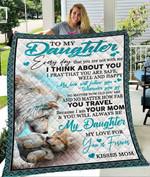 Custom Blanket Wolf To My Daughter Blanket - Gift For Daughter - Quilt Blanket