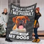 Customs Blanket Boxer Lover Gift Dog Blanket - Fleece Blanket