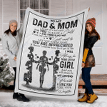 Customs Blanket To My Dad And Mom - Perfect Gift For Dad And Mom - Fleece Blanket