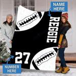 Custom Blankets Raiders Football Personalized Blanket - Fleece Blanket