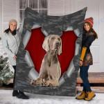 Customs Blanket Weimaraner Dog Blanket - Fleece Blanket #27659