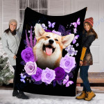 Customs Blanket Welsh Corgi Dog Blanket - Valentines Day Gifts - Fleece Blanket #26927