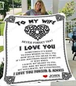 Custom Blankets To My Wife Personalized Blanket - Perfect Gift For Wife 7 - Fleece Blanket