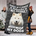 Customs Blanket Wolf Dog Blanket - Fleece Blanket