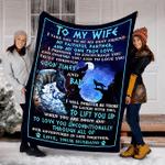 Wolf Custom Blanket To My Wife Blanket - Perfect Gift For Wife - Fleece Blanket