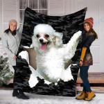 Custom Blanket Poodle Dog Blanket - Fleece Blanket #70801