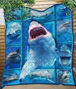Custom Quilt Blanket Shark 3D Blanket - Quilt Blanket