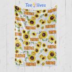Custom Blankets Sunflower Personalized Baby Blanket - Gift for Baby