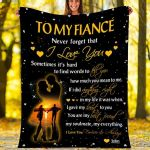 Custom Blankets To My Fiance Personalized Blanket - Perfect Gift For Fiance - Fleece Blanket #69975