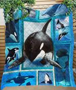 Custom Quilt Blanket Whale Orca Blanket - Quilt Blanket