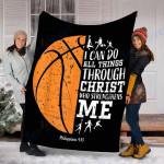 Customs Blanket Christian Basketball Blanket - Fleece Blanket