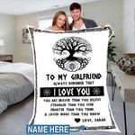 Custom Blankets To My Girlfriend Personalized Blanket - Perfect Gift For Girlfriend 6 - Fleece Blanket