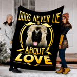 Customs Blanket Caucasian Shepherd Never Lie Dog Blanket - Fleece Blanket