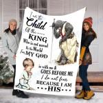 Custom Blanket Child Of The King Blaket - Perfect Gift For Son - Fleece Blanket