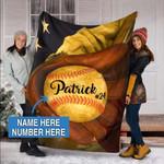 Custom Blankets Baseball Personalized Blanket 1 - Fleece Blanket