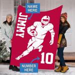 Custom Blankets 49ERS Football Personalized Blanket - Fleece Blanket