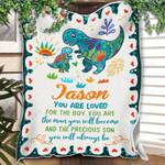 Custom Quilt Blanket Dinosaur Personalized Name Quilt Blankets - Gift For Kids