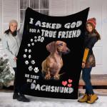 Customs Blanket Dachshund Dog Blanket - Fleece Blanket