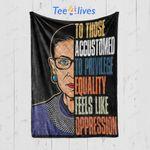 Custom Quilt Blanket Ruth Bader Ginsburg Notorious RBG Political Equality Womens Blanket - Quilt Blanket