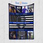 Custom Blanket Police Blue Lives Matter Blanket - Fleece Blanket (New Custom)