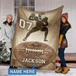 Custom Blankets Football Personalized Blanket 1 - Fleece Blanket