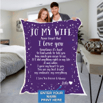 Custom Blankets Personalized Blanket - Perfect gift for Wife - Sherpa Blanket #66124