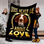 Customs Blanket Welsh Springer Spaniel Never Lie Dog Blanket - Fleece Blanket