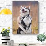 Siberian Husky Dog Canvas Prints Wall Art - Matte Canvas