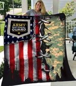 Custom Blankets Army National Guard Blanket - Fleece Blanket