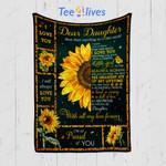 Custom Quilt Blanket Dear Daughter Blanket - Gift For Daughter - Quilt Blanket