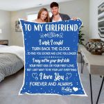 Custom Blankets To My Girlfriend Personalized Blanket - Valentines Day Gifts For Her 4 - Fleece Blanket