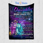 Custom Quilt Blanket Owl To My Daughter Blanket - Gift For Daughter - Quilt Blanket