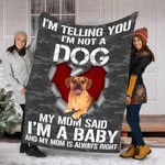 Customs Blanket Puggle Dog Blanket - Fleece Blanket #11430