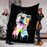 Customs Blanket Pitbull Dog Blanket - Perfect Gift For Son - Fleece Blanket