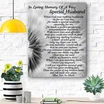 Custom Canvas In Loving Memory Of My Husband Canvas Print Wall Art - Matte Canvas