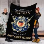 Customs Blanket U.S Coast Guard Veteran Blanket - Fleece Blanket