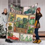 Custom Blanket Cactus Blanket - Fleece Blanket