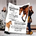 Horse Custom Blanket To My Daughter Blanket - Fleece Blanket #69907