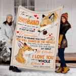 Customs Blanket TO MY HUSBAND Blanket - Perfect Gift For Husband - Fleece Blanket #40856