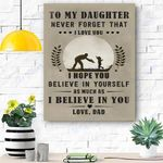 To My Daughter Canvas Print Wall Art - Gift For Daughter - Matte Canvas #39019