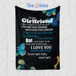 Custom Quilt Blanket To My Girlfriend Blanket - Quilt Blanket
