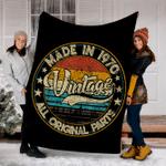 Customs Blanket Classic 50th Birthday Blanket - Fleece Blanket